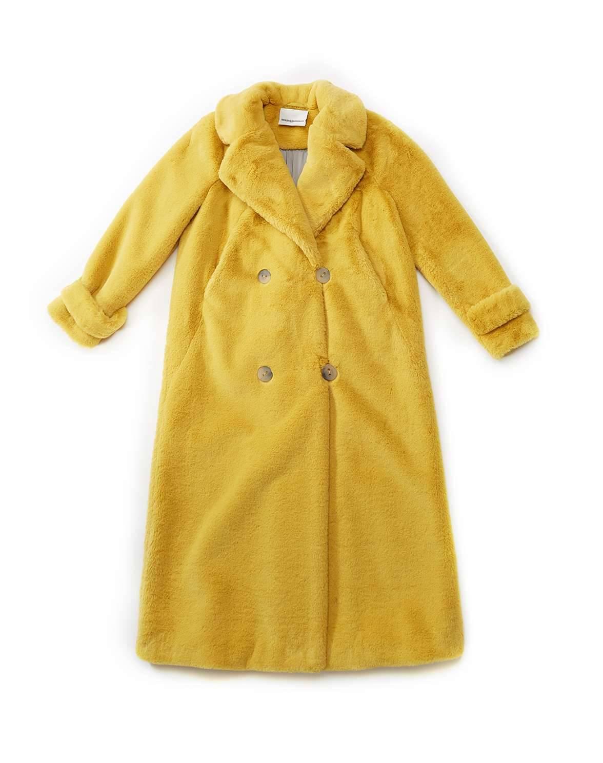 """Пальто """"Канарейка"""" (желтый)"""