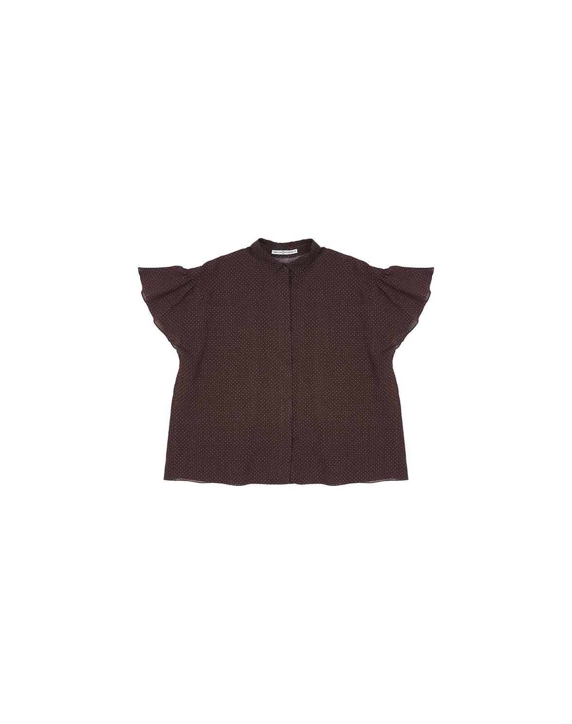 """Блуза """"Жан Пюи"""" (коричневый)"""